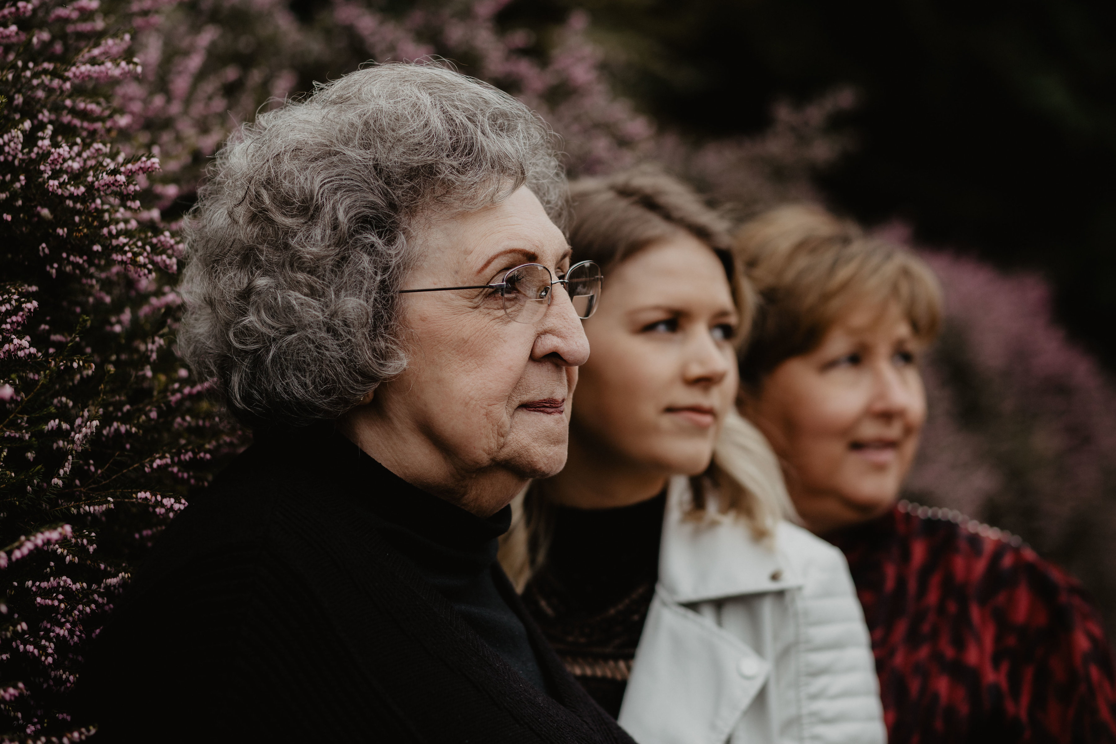 Three Generations - Daughter, Mother, Grandmother - Family Portraits